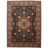 Image of RugsinDallas Vintage Wool Persian Tabriz Rug - 9′3″ × 12′9″ For Sale