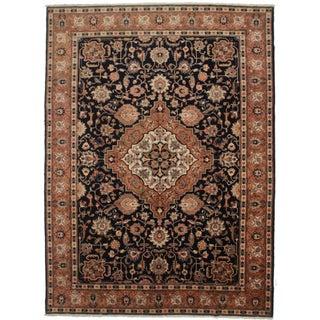 Vintage Wool Persian Tabriz Rug - 9′3″ × 12′9″ For Sale