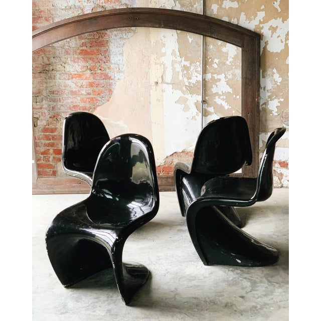 Verner Panton 4 Pantone Chairs For Sale - Image 4 of 4