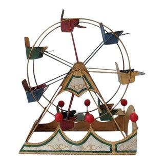 Vintage Tin Toy Ferris Wheel For Sale
