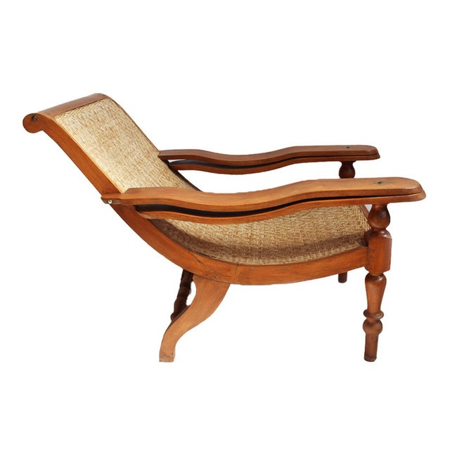 Colonial Teak & Cane Plantation Chair - Image 1 of 3