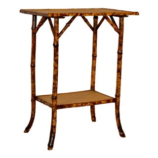 19th C Tortoise Bamboo Side Table For Sale