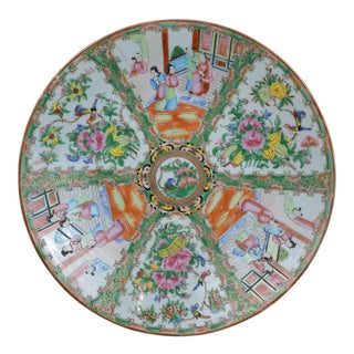 19th Century Chinese Export Famille Rose Large Charger For Sale
