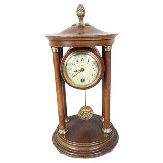 English Pergola Mantel Clock For Sale