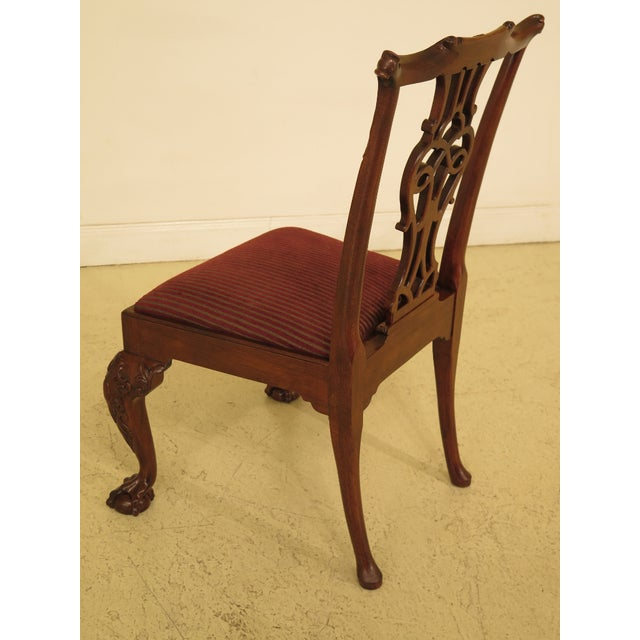 1990s Vintage Baker Chippendale Mahogany Dining Room Chairs- Set of 6 For Sale - Image 10 of 13