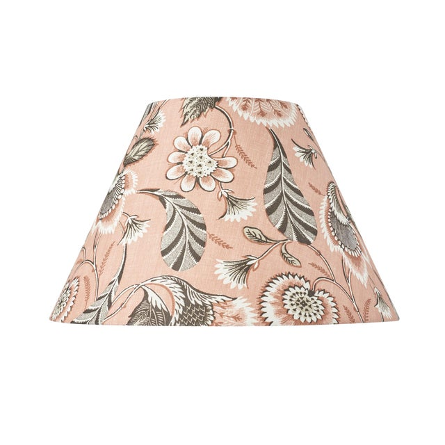Schumacher Ursula Linen Lampshade in Blush For Sale