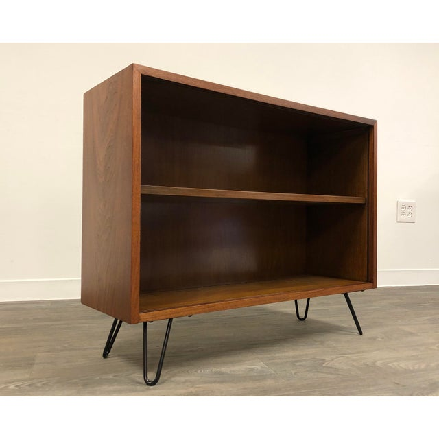 Wood Walnut Mid Century Modern Bookcase For Sale - Image 7 of 8