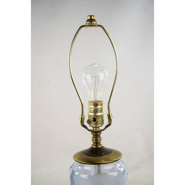 Vintage 19th Century Etched Glass Table Lamps - A Pair For Sale In Atlanta - Image 6 of 7