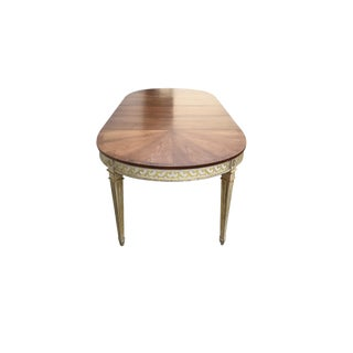 French XVI Painted Oval Dining Table For Sale