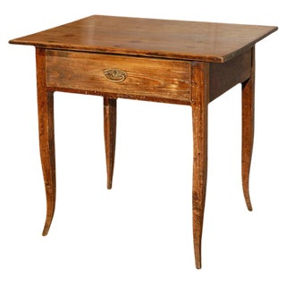 Antique Country Table with Drawer For Sale