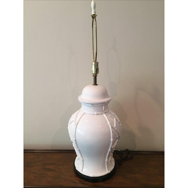 White Bamboo Lamp - Image 3 of 7