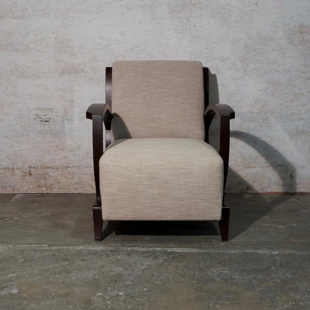 Art Deco Art Deco Club Chair and Ottoman For Sale - Image 3 of 9