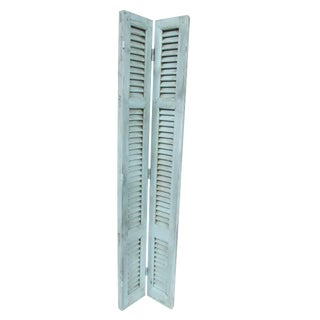 Tall Pale Blue French Rustic Shutters - A Pair
