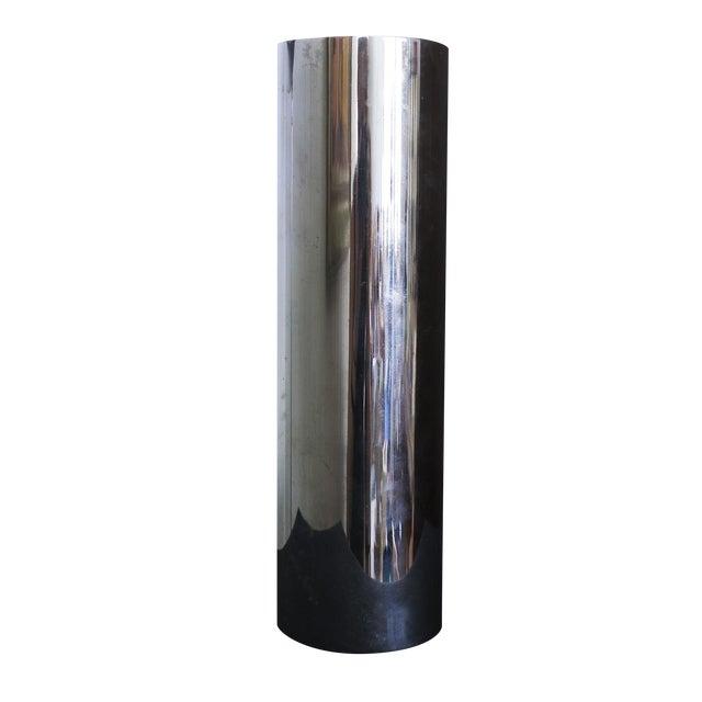 Minimalist Chrome Vase Made in Berlin - Image 1 of 4