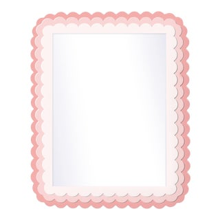 Fleur Home x Chairish Carnival Krewe Rectangle Mirror in Pink Punch, 30x40 For Sale