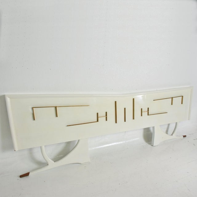 Brass Mid Century Mexican Modernist King Size Headboard For Sale - Image 7 of 10