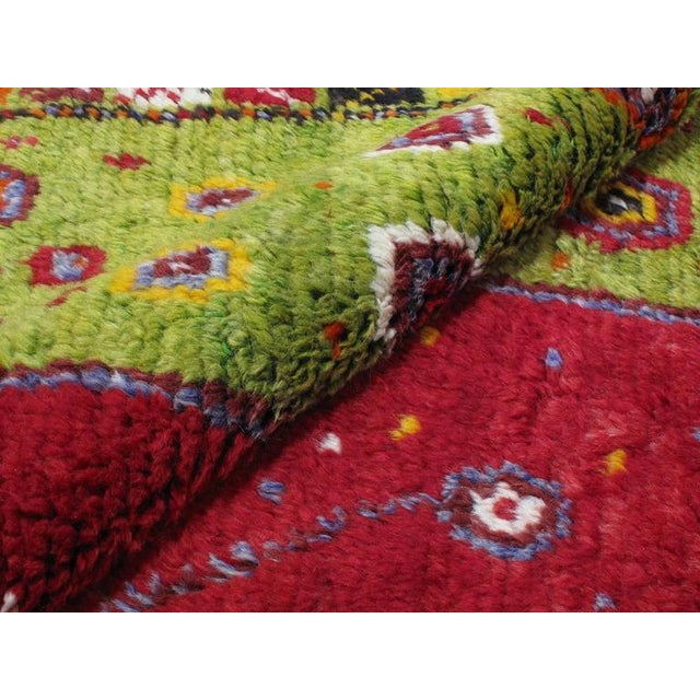 """Red Festive """"Tree-of-Life"""" Rug For Sale - Image 8 of 9"""