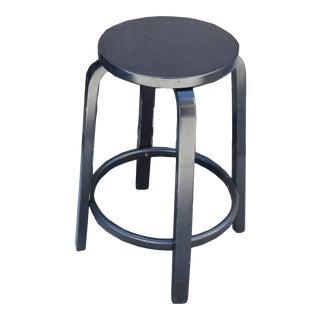 Artek Black Counter Height Bar Stool by Alvar Aalto Modern Finland For Sale