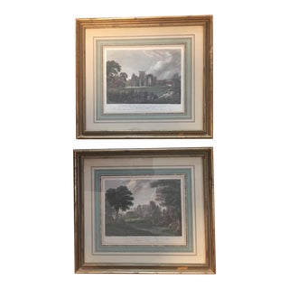 1960s Vintage English Etching Prints - a Pair For Sale