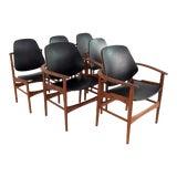 Image of 1960s Vintage Arne Hovmand Olsen for Onsild Mobelfabrik Danish Teak Dining Chairs - Set of 6 For Sale