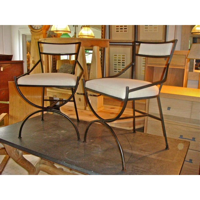 Pair of Mid Century Iron Chairs - Image 7 of 8