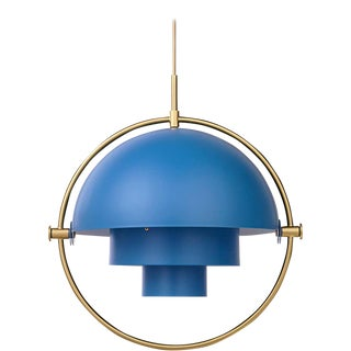 Louis Weisdorf 'Multi-Lite' Pendant Lamp in Blue For Sale