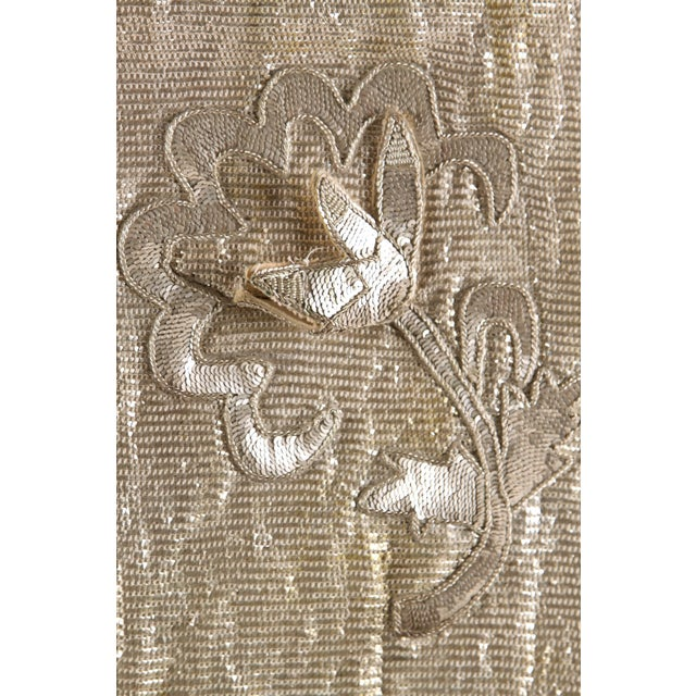 French 1930s Silver Thread & Sequin Fabric - Image 6 of 7