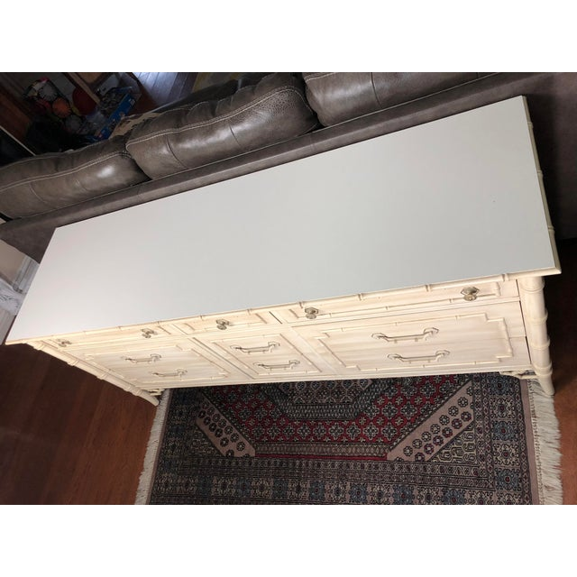 Thomasville Thomasville Allegro Faux Bamboo Dresser For Sale - Image 4 of 5