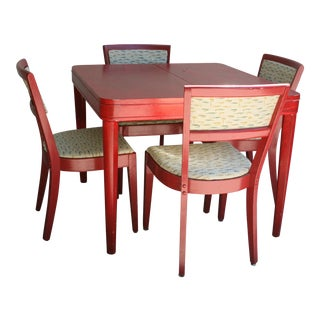 20th Century Art Deco Painted Luncheonette Dining Set - 5 Pieces For Sale