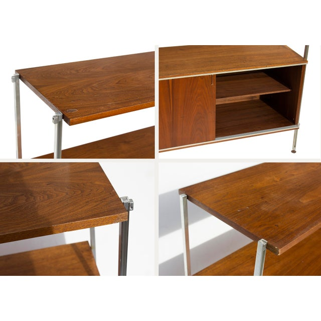 1960s Walnut and Aluminum Cabinet by Hugh Acton For Sale - Image 5 of 13