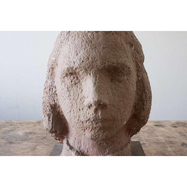 Gaetano Cecere Plaster Sculpture Wood Base #37 For Sale - Image 4 of 6