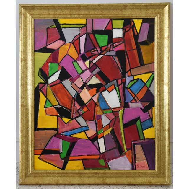 Juan Guzman Original Colorful Abstract Painting For Sale - Image 9 of 10