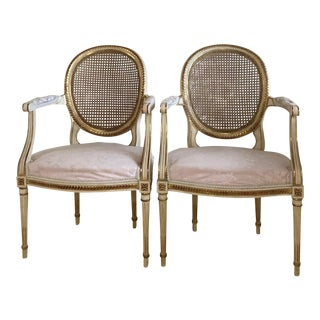 Simon Loscertales Bona Spainish Louis XVI Arm Chairs - A Pair