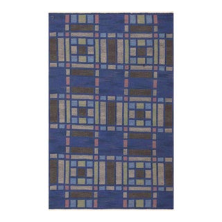 Vintage Swedish Wool Rug - 5′ × 7′7″ For Sale