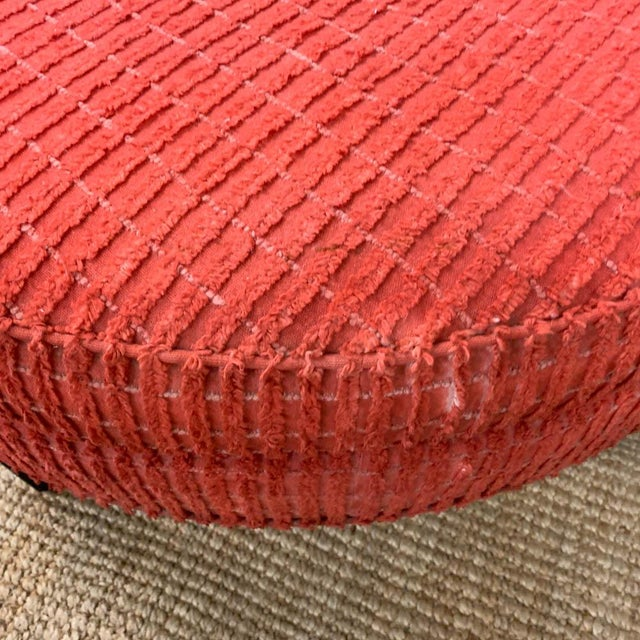 Large Mid Century Ottoman, Signed For Sale In New York - Image 6 of 8