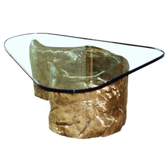 "Cast Bronze Coffee Table with Glass Top / Custom sizes available Bronze base 41"" L x 21"" W x 16 1/4"" H Contact dealer to..."