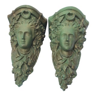 Neoclassical Plaster Wall Shelves/Brackets - a Pair For Sale