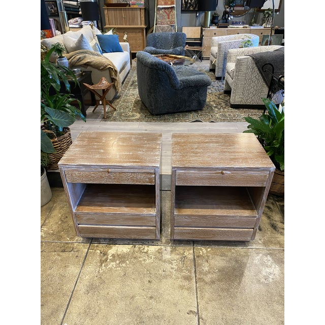 Cerused Oak Night Stands Sligh Nightstands For Sale - Image 11 of 11