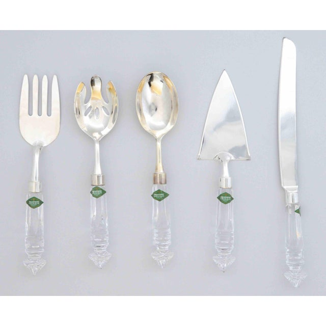 Crystal and Silver Serving Utensils Shannon Crystal by Godinger - Set of 5 For Sale - Image 10 of 10