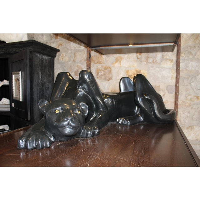 Fiberglass Black Pather Coffee Table Base For Sale - Image 7 of 7