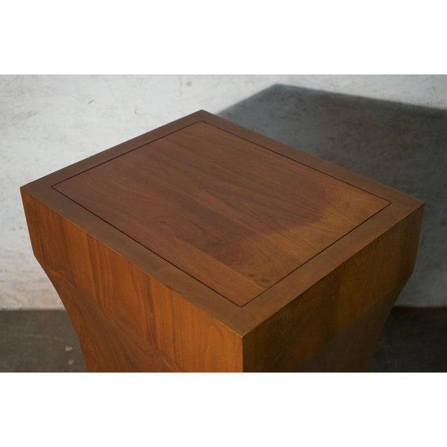 2010s Walnut Pedestal For Sale - Image 5 of 7