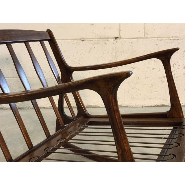 Vintage Italian Beech Wood Rocking Chair For Sale - Image 10 of 13