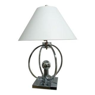 Unusual Spherical Chrome Desk Lamp For Sale