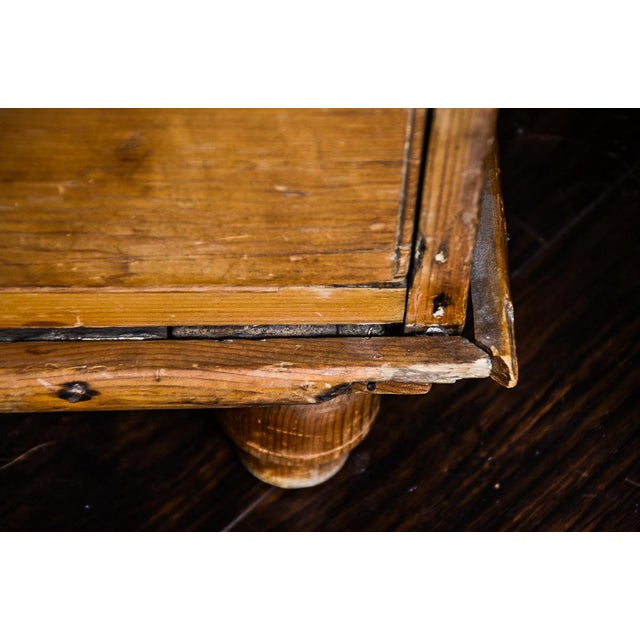 Antique Scrubbed Pine Linen Press Cabinet - Image 3 of 10
