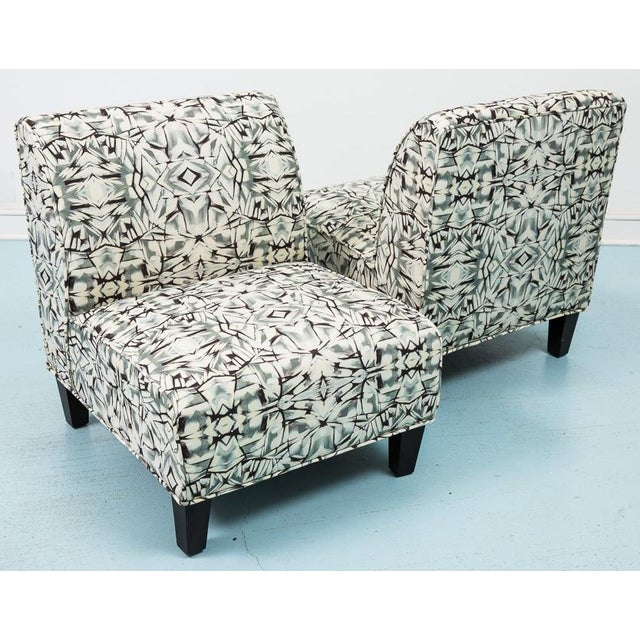 Modern Slipper Chairs - Pair - Image 5 of 5