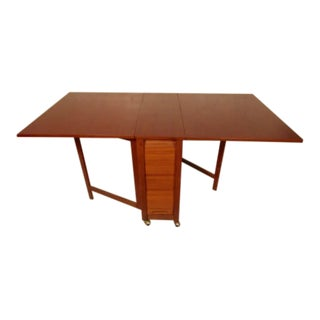 Mid-Century Drop-Leaf Table With Chairs For Sale