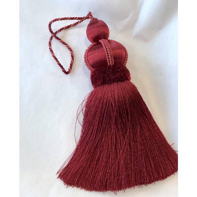 """Rouge Key Tassel With Cut Ruche - Tassel Height 5.75"""" For Sale - Image 9 of 9"""