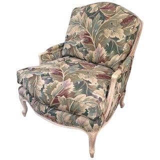 Louis XV Bergère Tropical Botanical Print Palm Club Chair For Sale