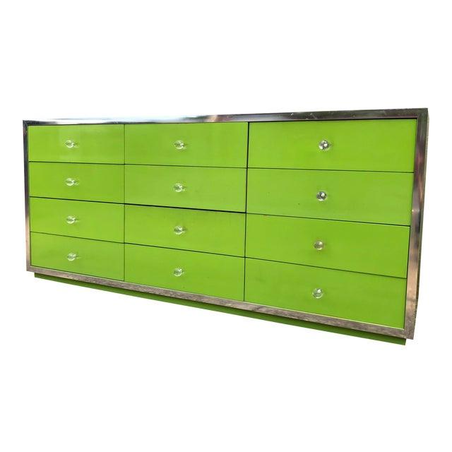1970s Mid-Century Modern Thomasville Lowboy Dresser For Sale