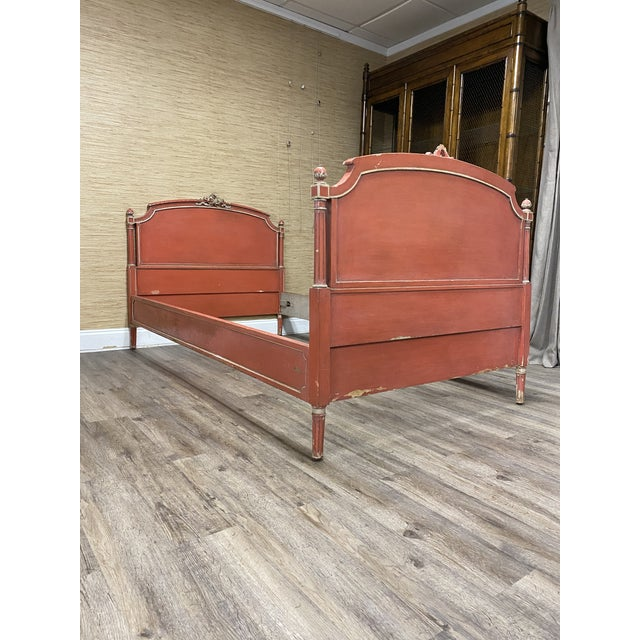 Antique French Louis XVI Style Twin Bed For Sale - Image 11 of 11